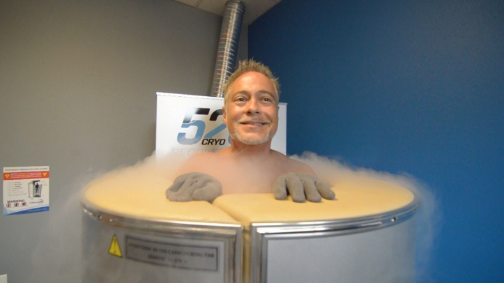 Neurologist Timothy Tim J. Allen tries cryotherapy at 5280 Cryo & Recovery Fort Collins Colorado CO