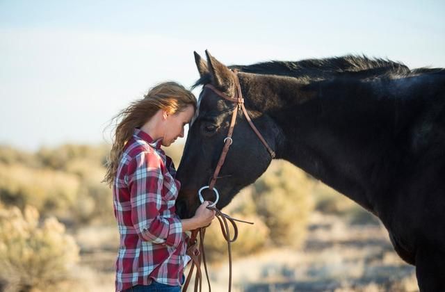 Equine-assisted horse therapy at Triple T Haven in Ault, Colorado for trauma survivors, PTSD brain