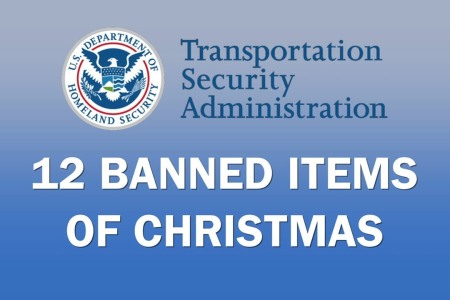 TSA Transportation Security Administration 12 Banned Items of Christmas by Reason.com