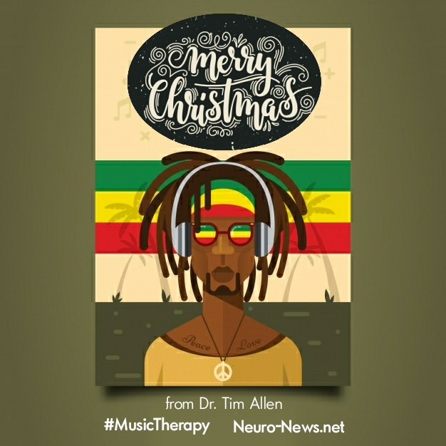 Merry Christmas: Rastafarian listening to Top 10 Reggae holiday songs music #MusicTherapy neuro-specialists.com