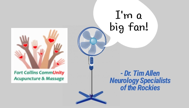 Fort Collins CommUnity Acupunture & Massage best of 2018 award, praised by neurologist Tim Timothy Allen, MD from Neurology Specialists of the Rockies